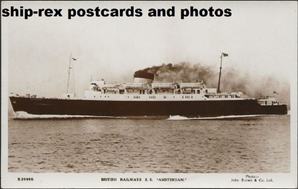 AMSTERDAM (1951, British Railways) postcard (b1)